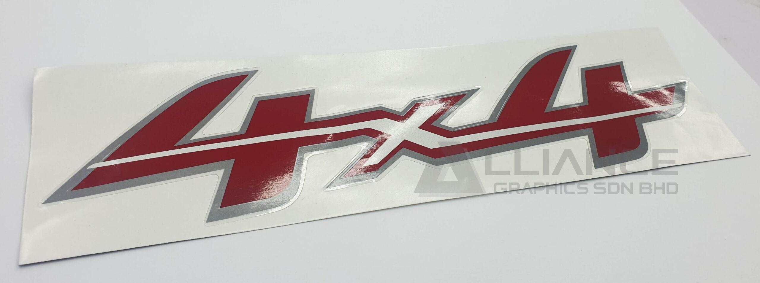 4 x 4 stiker